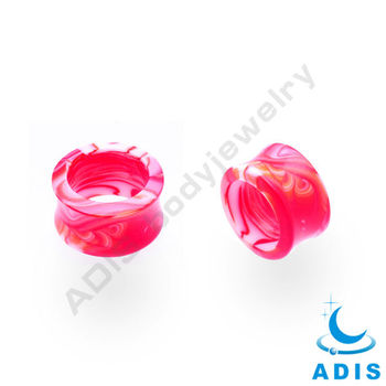 New Design Fashion Acrylic Horn Ear Tunnels