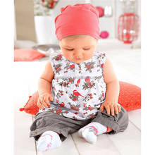 Low price children clothing sleeveless pants clothing set unique design baby clothes