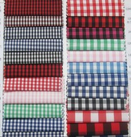 Wholesale plaid wrinkle free Casual 100% yarn dyed cotton check men's shirt fabric