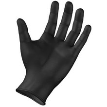 Heavy Duty Black Nitrile Disposable Gloves AQL 1.5