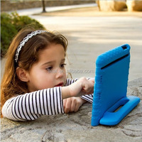 Hot sales Soft EVA Foam Kids Child Proof purple Kickstand Case Cover for iPad 2/3/4