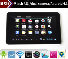 factory direct supply 9 inch tablet pc Allwinner a23 Cortex A8 Android 4.1 512MB/8GB Capacitive Screen WIFI dual camera tablet
