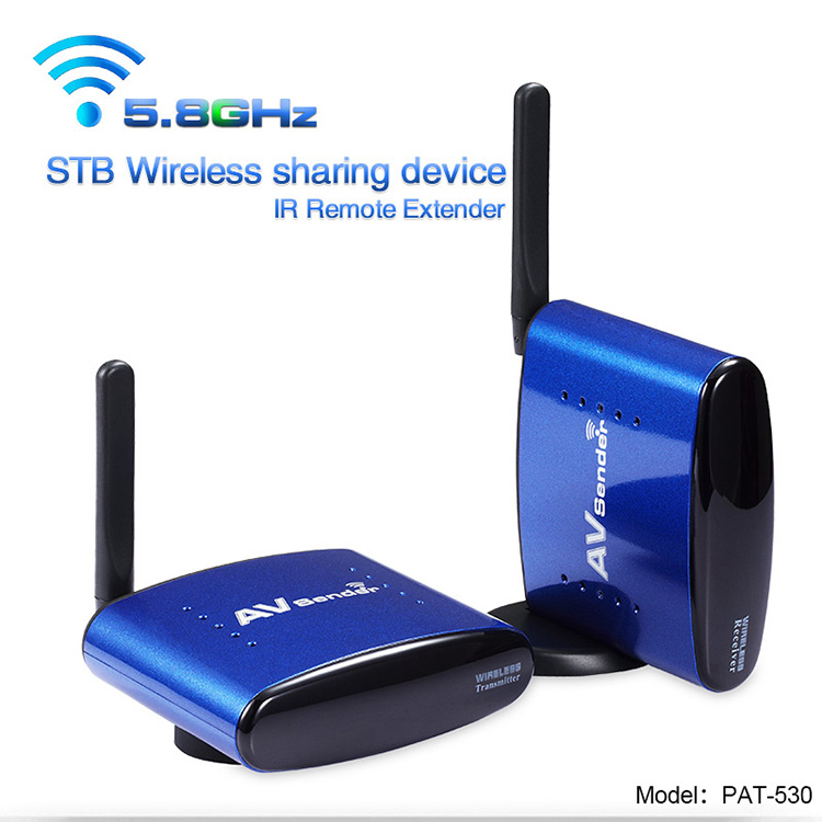 5.8G Wireless Audio/Video Sender Transmitter & Receiver set,with IR Remote Extender,remote control extender infrared