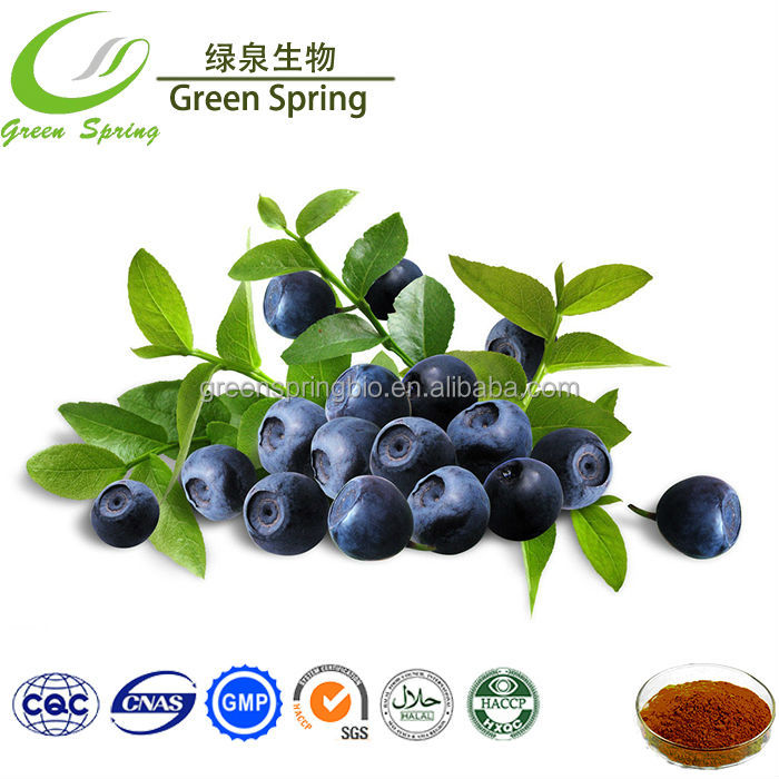 100% Natural High Quality bilberry extract anthocyanins/anthocyanin color powder