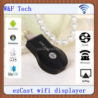 Factory price ezcast pro dongle wifi display receiver support windows/android/ ios HDMI connect to HDTV Ezcast m2