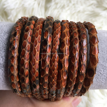 2016 High End Chic Brown Genuine Python Leather For Fashion Bangles 4,5,6 mm Round String Cord Python Rope