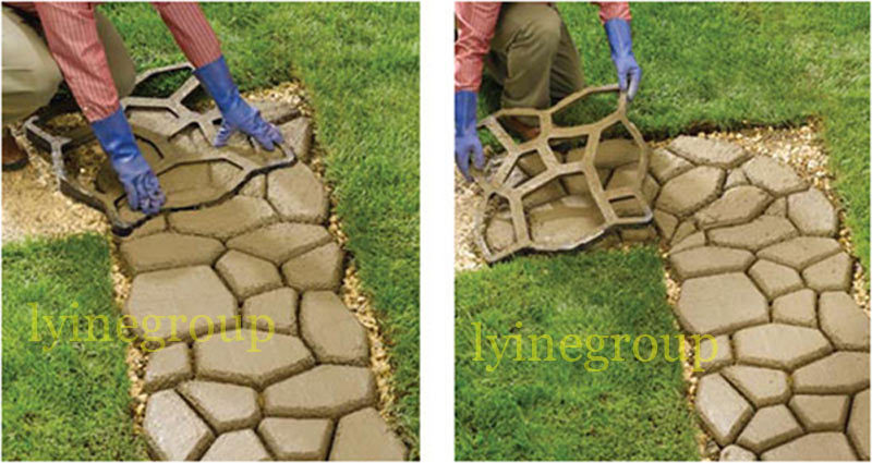 Hot selling pp garden Random Concrete Stepping Stone stamping decorative Pathway Path Paving pathmate mould