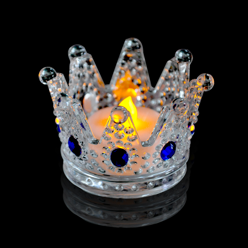 Decorative Wedding glass crown candle holder