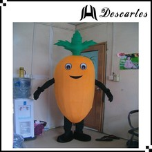 Hot sale vegetable plush walking costume, adult radish mascot costume for events