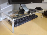 Hot sale clear desktop acrylic monitor riser stand