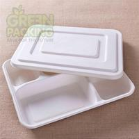 biodegradable disposable tableware 282x220x35 mm 5 comaortment NP001