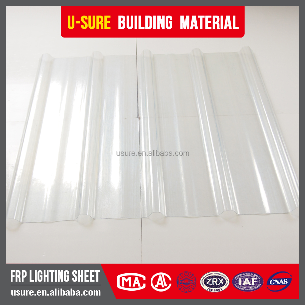 FRP plastic transparent sandwich panels