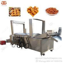 Gas Heating Continuous Automatic Hamburger Namkeen Peanut Noodle Nugget Frying Onion Chicken Leg Meat Deep Fryer Machine Price