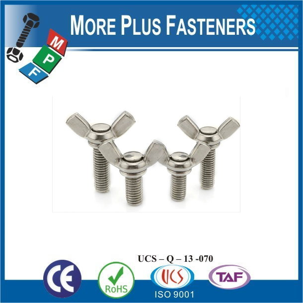 Made in Taiwan M10-1.5 x50 A2 Stainless Steel DIN 316 Wing Screw