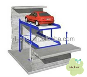 Car Parking Lift/Ramp/Stacker/Elevator/Hoist/Lifter in Pit for Two Cars
