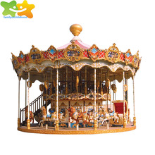 32 seater electric deluxe double layer carousel merry-go-round for sale