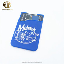 Universal gift adhesive custom rubber promotional cell phone sticky card holder