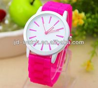 silica gel watch women silicone sport mirror watch hot
