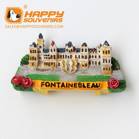 French fontainebleau country fridge magnets / souvenir resin magnet/ tourist fridge magnet