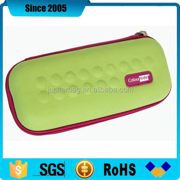 cute eva hard pencil case box with pvc logo