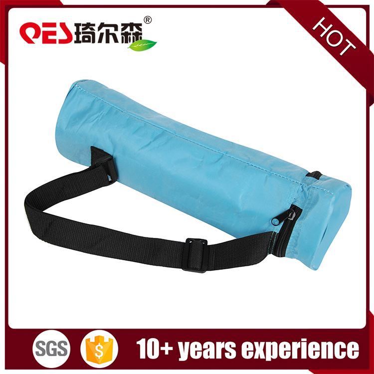 Popular recycle ice 1.5l water insulation cooling package shoulder fitness polyester beer cup bottle cooler bags