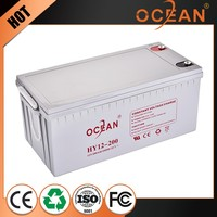 Succinct decorative best quality 12V 200ah solar battery 12v