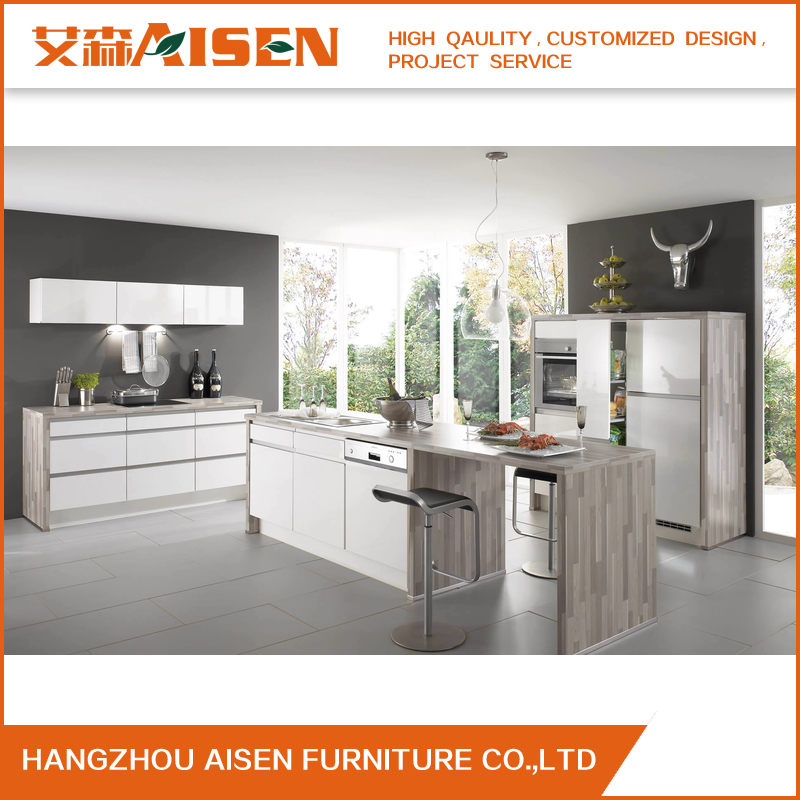 Affordable Modern High Gloss Laquer Kitchen Cabinets