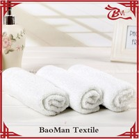 Baoman Customized 100 cotton plain woven plain color dyed white towel for hotel home