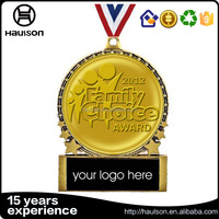 Blank association award 24K gold plating with standard high quality choice 18k gold embossed medal