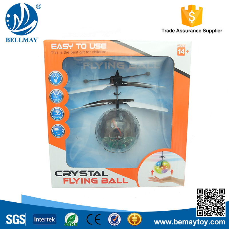 Infrared Sensor Flying Crystal Ball with Colorful LED Light Hovering Ball Toy