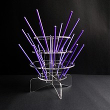 3 Tiers Detachable Clear Acrylic Lollipop Cupcake Display Holder Tower with 18 holes