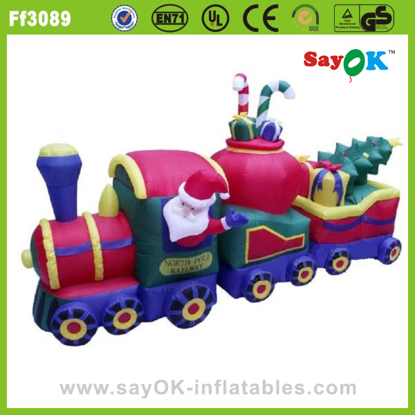 large christmas inflatable santa truck toys for christmas party decorations