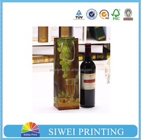 luxury&elegant wine bottle gift bag, origami paper gift bag for wine