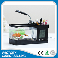 Shenzhen cheap aquarium USB office desk fish tank