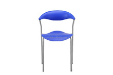 2015 powder coated metal legs plastic seat and back outdoor furniture living room furniture plastic chair