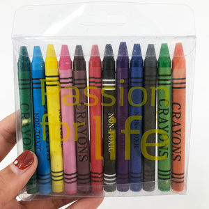 Promotion Color Wax Crayon With ASTM D4236 And EN-71