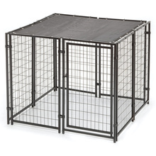 Galvanized double dog kennel Pet Cage Huilong wire mesh factory manufacture