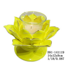 Wholesale ceramic lotus flower votive tealight candle holder for sale