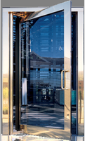 Glass Office Entry Doors With Graceful Design
