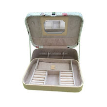 OEM custom high quality and cheap ladies' beauty cosmetic cases with mirror