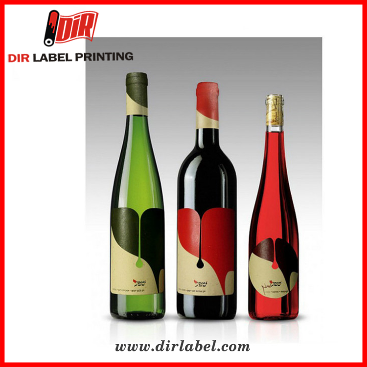 Factory direct sales standard size printing colorful private gold foil wine personalized own logo label