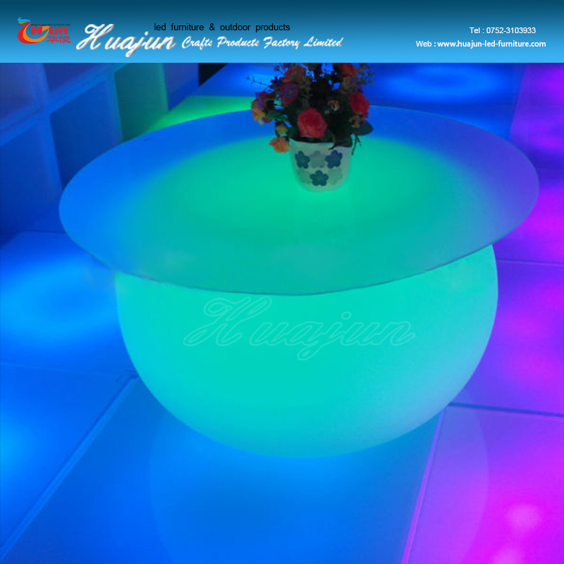 led glass wine table