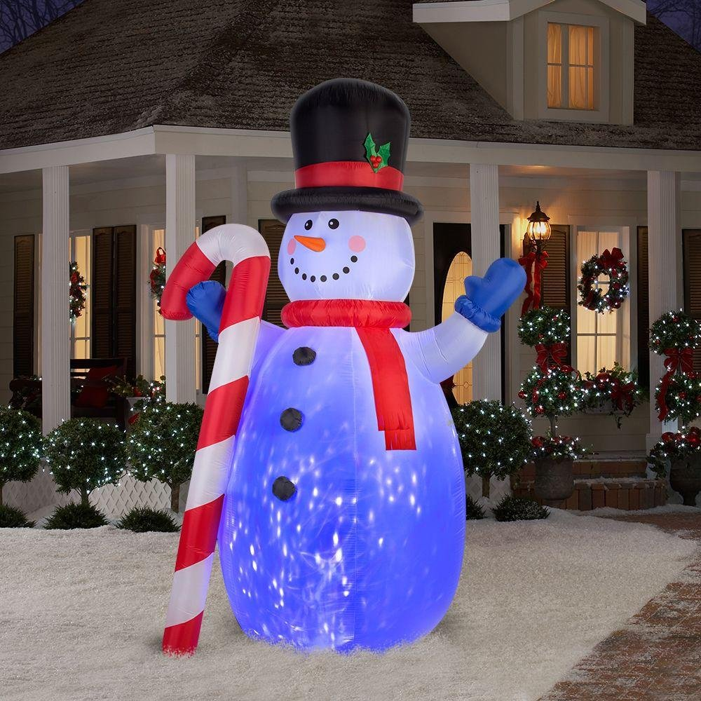 Christmas decoration LED inflatable snowman
