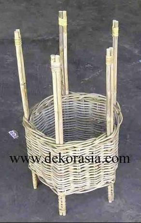 Natural Color Large Pot Made of Rattan