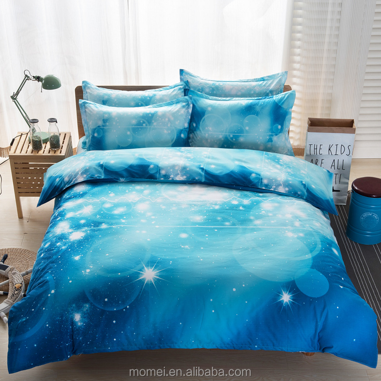 bed sheet 4pcs galaxy 3d bedding sets universe outer space fitted pillowcase twin queen bed sheet
