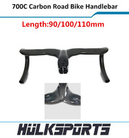Discount Full carbon one piece of handlebar with stem Inter cable 400/420/440mm road carbon handlebar with stem