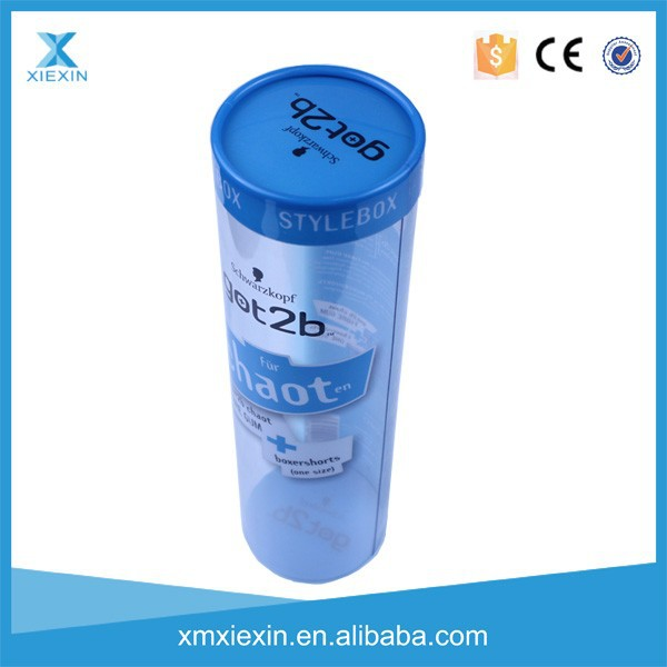 New beautiful plastic customized T-shirt packaging tube