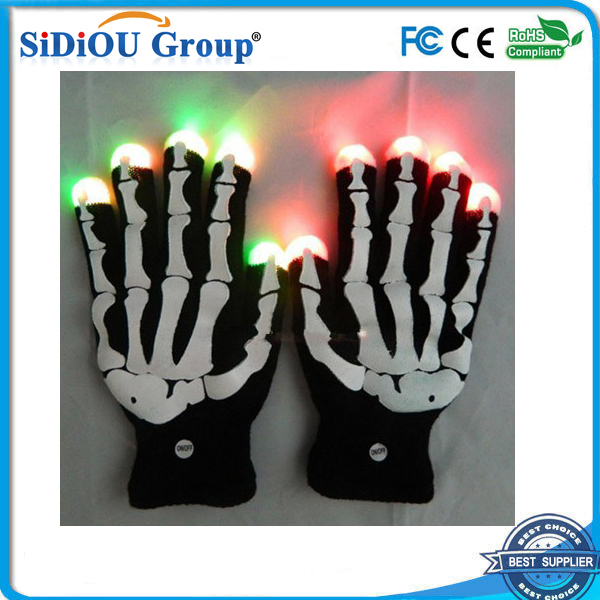led light up skeleton gloves party led glove