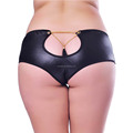 Best selling fashion fat women sexy underwear plus size faux leather panty