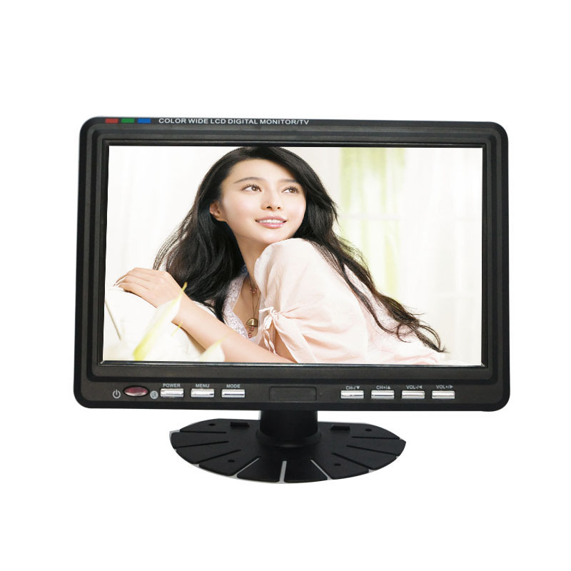 Televisions 9.5 inch TFT LCD Color Analog Portable TV (Black)